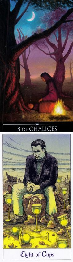Eight of Cups: disillusionment and fear of the unknown (reverse). Silver Witchcraft Tarot deck and Cosmic Tarot deck: tarotcards, alison tarot vs tarotreading. Best 2017 magic tricks and tarot altar.