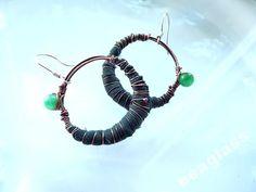 Miedziane kolczyki w stylu Boho. Acoya Jewellery