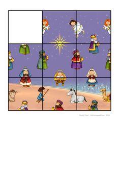 Tiles for the Silent Night puzzle. Find the belonging board on Autismespektrum on Pinterest. By Autismespektrum