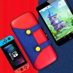 Carrying Case for Nintendo Switch Lite,[Color-Clash Attractive Appearance][Full Protective] Mario Case for Switch Lite, Portable Travel Carry Case Bag for Nintendo Switch Lite Joy-Con-Red Nintendo Eshop, Nintendo 2ds, Nintendo Switch Price, Nintendo Store, Card Games, Game Cards, School Bags, Red Green, Super Mario