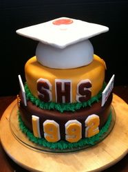High School Reunion Cake - LittleMissKrafty.com