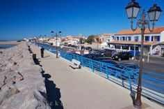 Photo of the gypsy town of Stes Maries de la Mer on the fringes of the Camargue