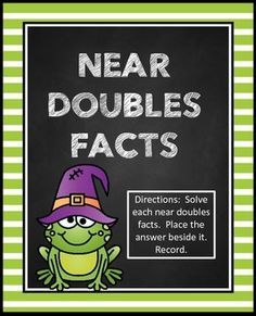 Near Doubles FactsHalloween Math CenterThis center is part of my Halloween Math Center Bundle (so please do not purchase if you have purchased the bundle:Please take a look at my Halloween Math and Literacy Packet:HALLOWEEN MATH AND LITERACY PRINTABLES**5 MATH CENTERS***Please take a look at the preview to see the layout of each center.