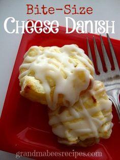 Bite Size Cheese Danish