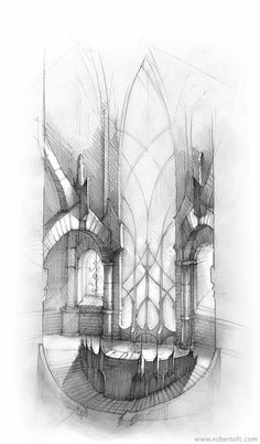 Thistla: Inspo for the elvish assembley-hall. not all elvish architecture is made of magically manipulated trees, some is beautifully handcrafted design and extrordinary architecture. the light in this room would be wonderful.