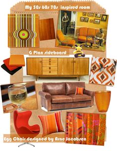 Interior design inspirations for a retro living room