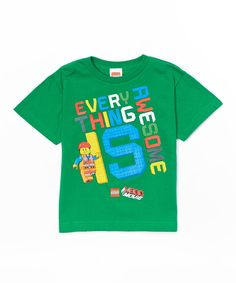 FOR MY LEGO-maniac  The Lego Movie 'Everything Is Awesome' Tee - Kids on #zulily today!