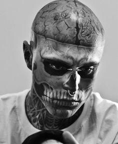 boy, rick genest, tattoo, zombie, zombie boy