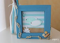 Crafting ideas from Sizzix UK: A sea frame by Raquel Reyes