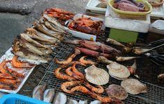 Grilled fish at Dongmyeong-hang (Dongmyeong Port) in Sokcho, Korea