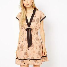 Yumi Fox Print Dress used once