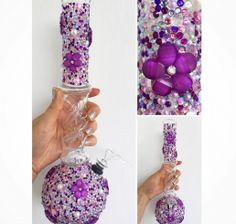 All On My Grind items are hand-embellished and quality is a guarantee. Tall Twister Bong slider funnel shaped slider bowl 13 inches tall, inch diameter 4 inch down tube and rubber seal Glass Pipes And Bongs, Glass Bongs, Cool Bongs, Weed Pipes, Water Bongs, Bubbline, Flower Bomb, Pink Purple, Cannabis
