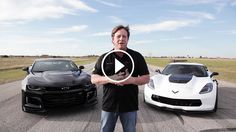 John Hennessey and the Hennessey Performance team match race 2 bone stock factory vehicles: 2017 Camaro ZL1 vs 2017 Corvette Z06 from a 40 mph roll.    Who is more faster ? ZL1 Camaro 2017 or Z06