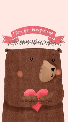Imagen de wallpapers, cute, and bear