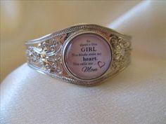 MOM Silver Snap Bangle Bracelet