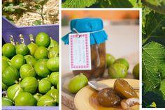 Higos asados conservados en su jugo {septiembre, mes de las conservas} Apple, Fruit, Food, Roasted Figs, Sweets, Desserts, Vegetarian Recipes, Juicing, Preserves