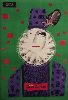 Polish Opera Poster by Jozef Mroszczak, 1963, Don Carlos, Giuseppe Verdi.