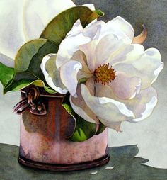 Painting by Claire Schroeven Verbiest. A deep appreciation for art; esp. paintings or other art work that featured flowers.