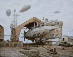 Thunderer by voitv. #steampunk #victorian #Art #gosstudio .★ We recommend Gift Shop: http://www.zazzle.com/vintagestylestudio ★
