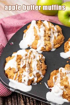 "ig, bakery style Apple Butter Streusel Muffins have a layer of apple butter and crumb streusel, with an apple cider glaze on top.  Muffins are one of my many favorite morning breakfasts. I love waking up remembering there is a new ""Lizzy T's"" muffin waiting for me to savor. Especially if it has apple butter and streusel. Best Apple Recipes, Bottle Decorations, Breakfast Recipes, Dessert Recipes, Apple Desserts, Apple Butter, Morning Breakfast, Apple Cider, Glaze"