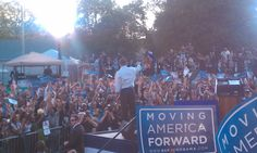 Moving America forward rally in Germantow with President Obama. 10/10/10