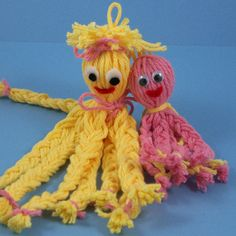 Click to enlarge image: Yellow and pink octopus buddies
