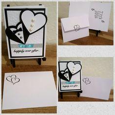 Wedding Card with Stamped Envelope Craftsbymeli@gmail.com