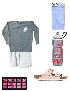 """""""......."""" by kaelyn-grace-1 on Polyvore featuring NIKE, Birkenstock, Polar, Victoria's Secret and Casetify"""