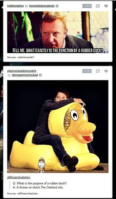 misha collins is the overlord. Whoo rides a rubber duck. I love him. // Supernatural; Castiel