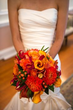 Image result for flower bouquet wedding orange autumn california