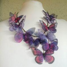 Volaré lejos Organza de seda color púrpura por TheButterfliesShop