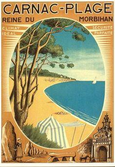 By D. Derveaux, c 1930, Reine du Morbihan, Carnac Plage, France.