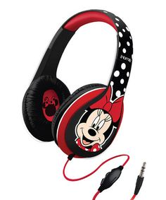Another great find on #zulily! Red & Black Minnie Mouse Over-Ear Headphones by Minnie Mouse #zulilyfinds