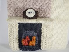 8th in a series of 24 - little clock - The Night Before Christmas knitted box