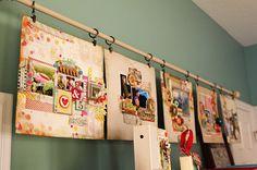 Christine Middlecamp's Artist Studio - Cute Curtain Rod Display