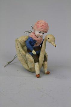 1316: HEUBACH CHILD ON SWAN : Lot 1316