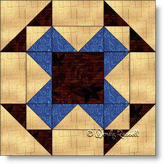 ROCKY GARDEN quilt block - an easy nine patch