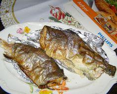 W Mojej Kuchni Lubię.. : pyszne pieczone pstrągi:Airfryer hd9240/30