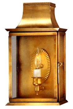 Patrice Colonial Copper Lantern Wall Sconce: Traditional Copper Light Handmade in USA. Buyers choice of sizes, finishes and glass. UL Listed, Handmade, Free Shipping