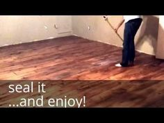 DIY Farm House Floor - Easy and Cheap Wood Floors with that Industrial, Chic, Country Feel - YouTube