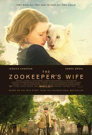 The Zookeeper's Wife - COMING SOON - Based on the book, it tells the story of how the Zookeeper of the Warsaw Zoo and his wife helped to save hundreds of people from the Nazi invasion in Warsaw.