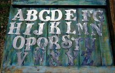 BELL Font Steel Letter A B C D E F G H I J K by langleymetalworks