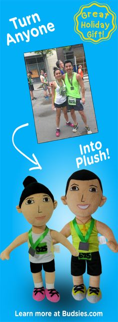 Check out this fun & unique gift for couples. Turn the two of you into a custom plush dolls! Just $79 - less than a bobblehead. Super simple to order - learn more at Budsies.com/selfies