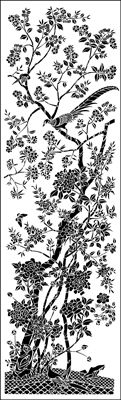 Pheasant Panel No 1 stencil from The Stencil Library online catalogue. Buy stencils online. Stencil code CH5-X.