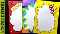 Popart Border designs on paper, border designs, project work designs, borders for projects by ------------------------------------------------------. File Decoration Ideas, Page Decoration, Boarder Designs, Page Borders Design, Pop Art Drawing, Drawing Frames, Page Boarders, Pencil Drawing Inspiration, Borders For Paper