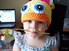 Most Adorable Duck Hat Ever # Free # crochet pattern link here DISCLAIMER First and foremost I take no credit for any of...