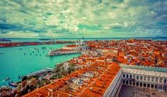 View from Campanile. Venice, Italy.