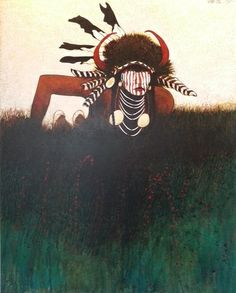 Shows Little - Crow Indian Man, Kevin Red Star.  Modern West Fine Art.