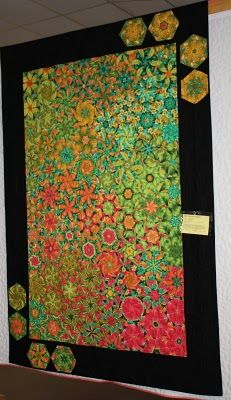 The Q and the U - Quilting Blog: More Pictures from the KVQG Quilt Show.  Great colours