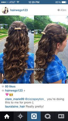 Curly half up half down with braids